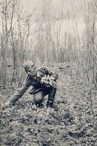 soldat allemand et fleur